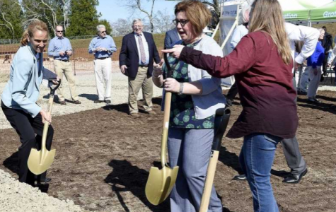 Officials break ground of Groton Middle School on April 23.  (Photo courtesy of The Day)