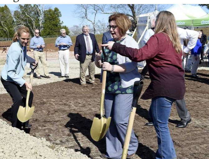 Officials+break+ground+of+Groton+Middle+School+on+April+23.+%0A%28Photo+courtesy+of+The+Day%29